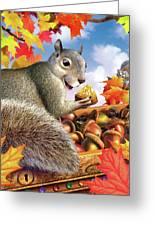 Squirrel Treasure Greeting Card