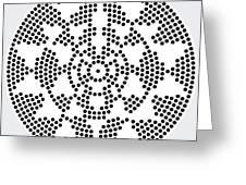 Sri Dots Greeting Card by Robert Thalmeier