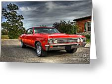 Ss 396 Chevelle Greeting Card by Tim Wilson