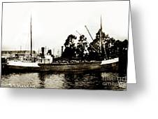 Steam Schooner Helene At San Padero Greeting Card