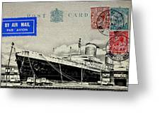 Ss United States - Post Card Greeting Card
