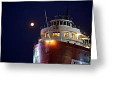 Ss William A Irvin At Night Greeting Card