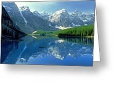 S.short Canoeist, Moraine Lake, Ab, Fl Greeting Card by Steve Short