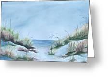 Ssi Beach Greeting Card