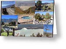 Saline Valley Collage Greeting Card