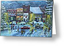 Snowing In Concord Center Greeting Card