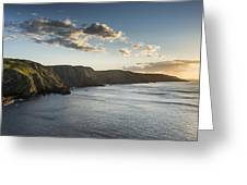 St Abbs Sunset Greeting Card