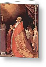 St Andrew Corsini In Prayer 1635 Greeting Card