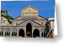 St Andrews Cathedral In Amalfi Greeting Card