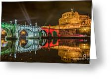 St Angel Castel Greeting Card