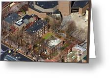 St Anthony Hall And St Elmo Fraternity Houses University Of Pennsylvania Greeting Card by Duncan Pearson