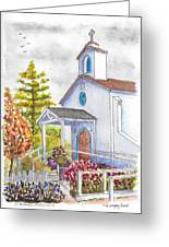 St. Anthony's Catholic Church, Mendocino, California Greeting Card