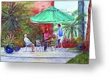 St. Armand's Circle Cafe Scene Greeting Card