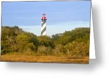 St. Augustine Light House Greeting Card