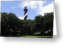 St. Augustine Light In Florida Greeting Card