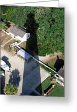 St. Augustine Lighthouse Shadow Greeting Card