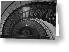 St. Augustine Lighthouse Spiral Staircase II Greeting Card