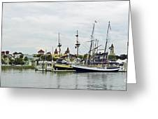 St Augustine Marina From The Water Greeting Card