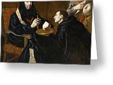 St Benedict Blesses The Bread Greeting Card