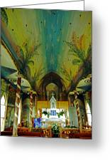 St Benedicts Painted Church 6 Greeting Card