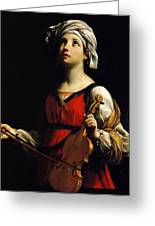 St Cecilia 1606 Greeting Card