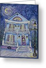 St. Charles Blue House Greeting Card