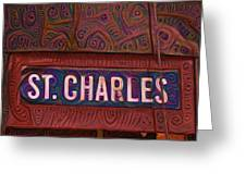 St Charles Line Greeting Card