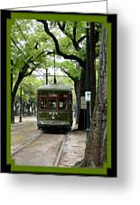St. Charles Street Car Greeting Card