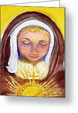 St. Clare Greeting Card by Susan  Clark