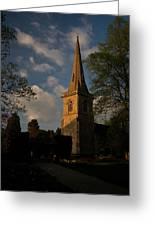 St Davids Church At Sundown Greeting Card