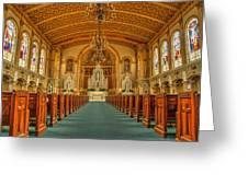 St Edward Interior Greeting Card