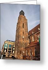 St. Elizabeth's Church Tower In Wroclaw Greeting Card