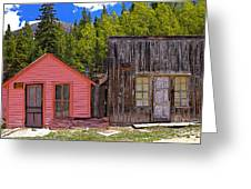St. Elmo Pink House And Barn Greeting Card