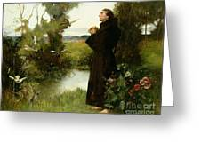 St. Francis Greeting Card by Albert Chevallier Tayler