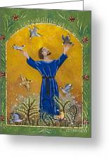 St. Francis And Birds Greeting Card