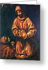 St Francis And Brother Rufus 1606 Greeting Card