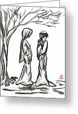 St. Francis And St. Clare Greeting Card by Jason Honeycutt