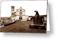 St. Francis Basilica, Assisi  Greeting Card