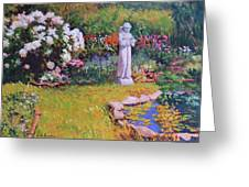 St. Francis In The Garden Greeting Card