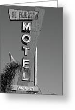 St Francis Motel Stockton Ca Greeting Card