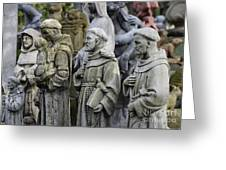 St Francis Statues Greeting Card
