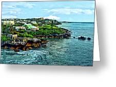 St. George Bermuda Shoreline Greeting Card