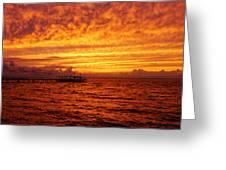 St. George Island Sunset Greeting Card