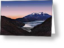 St Helens After Sunset Greeting Card