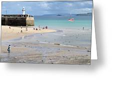St. Ives, Harbour Beach Greeting Card