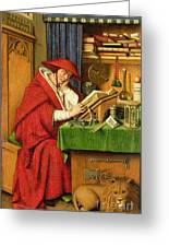 St. Jerome In His Study  Greeting Card