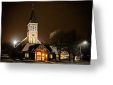 St Joes Church Mandan 6 Greeting Card