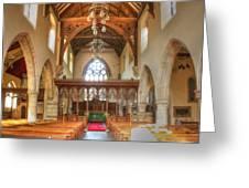 St John The Baptist Penshurst Interior Greeting Card