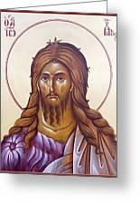 St John The Forerunner And Baptist Greeting Card