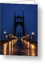 St Johns Bridge Shine Greeting Card